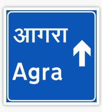Agra, Road Sign, India Sticker