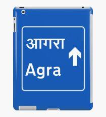 Agra, Road Sign, India iPad Case/Skin