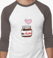 i love nutella Men's Baseball ¾ T-Shirt