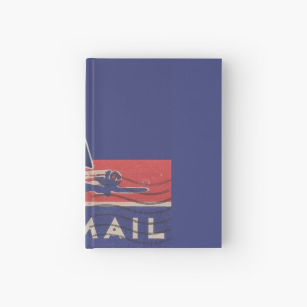 Vintage aviation -> Send via airmail  Hardcover Journal