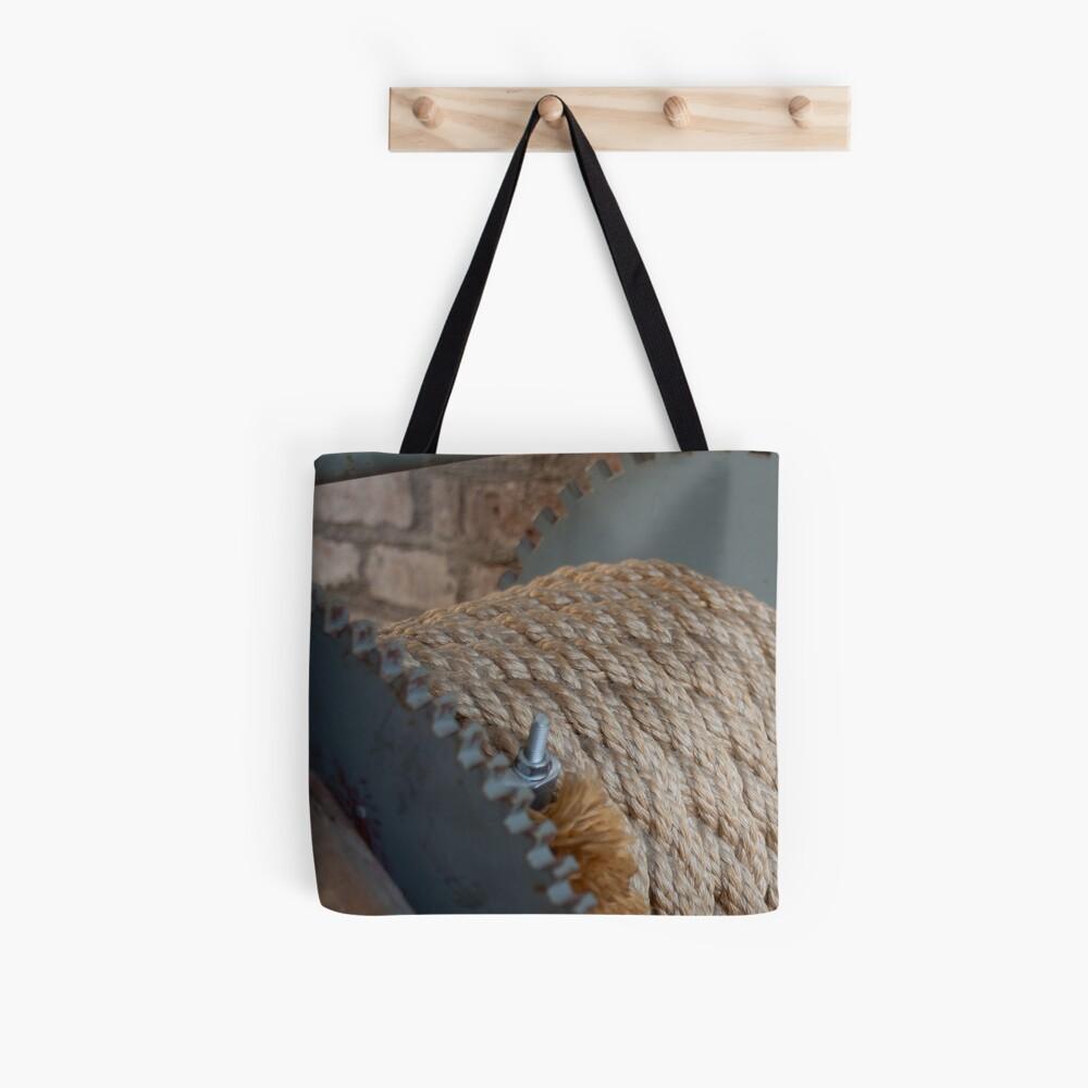 Nautical mooring rope texture Tote Bag