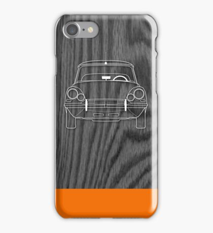 Citroen DS (1960's) Outline Drawing on Black Oak iPhone Case/Skin
