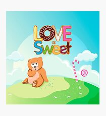 Love is Sweet Photographic Print