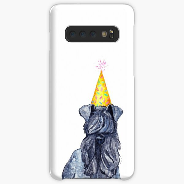 Watercolour Kerry Blue Terrier Dog Wearing Party Hat Samsung Galaxy Snap Case