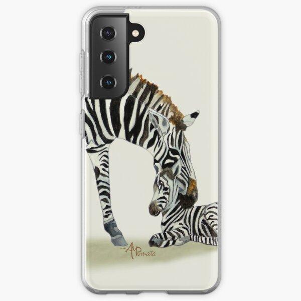 Zebras In Watercolor Samsung Galaxy Soft Case