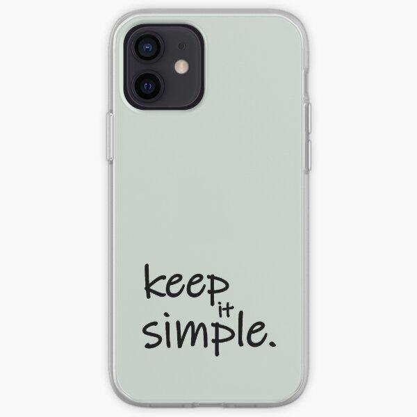 Diseño Keep it simple  Funda blanda para iPhone