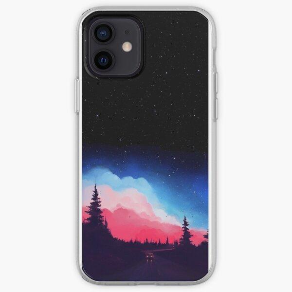 Coque de téléphone ciel coloré Coque souple iPhone