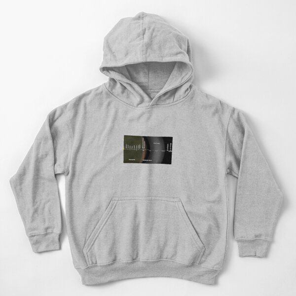 The distance from the Oort cloud to the interior of the Solar System, and two of the nearest stars Kids Pullover Hoodie