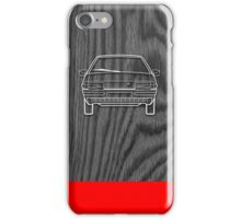 Citroen BX Outline Drawing on Black Oak iPhone Case/Skin