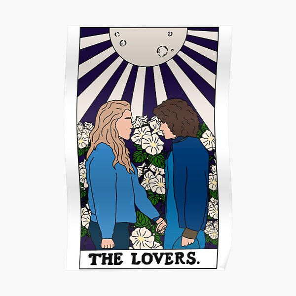The Lovers Tarot Card Dani and Jamie - The Haunting Of Bly Manor  Poster