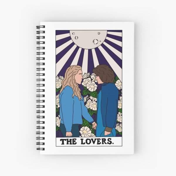 The Lovers Tarot Card Dani and Jamie - The Haunting Of Bly Manor  Spiral Notebook