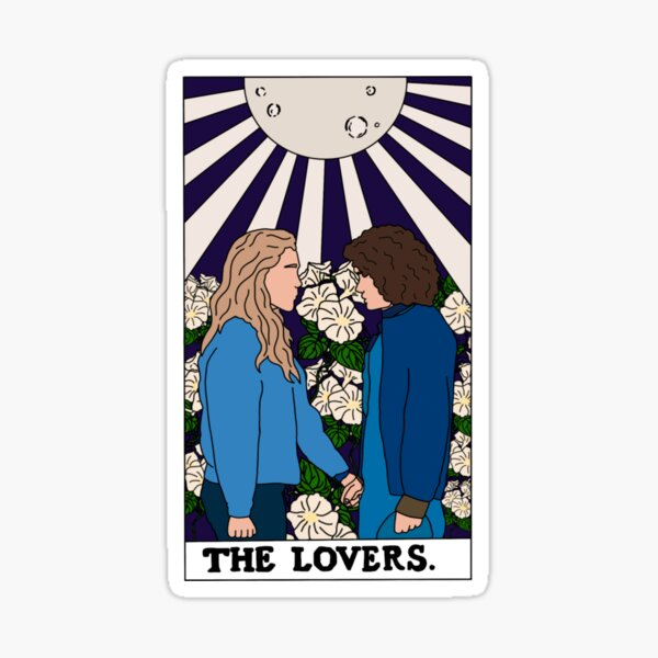 The Lovers Tarot Card Dani and Jamie - The Haunting Of Bly Manor  Sticker