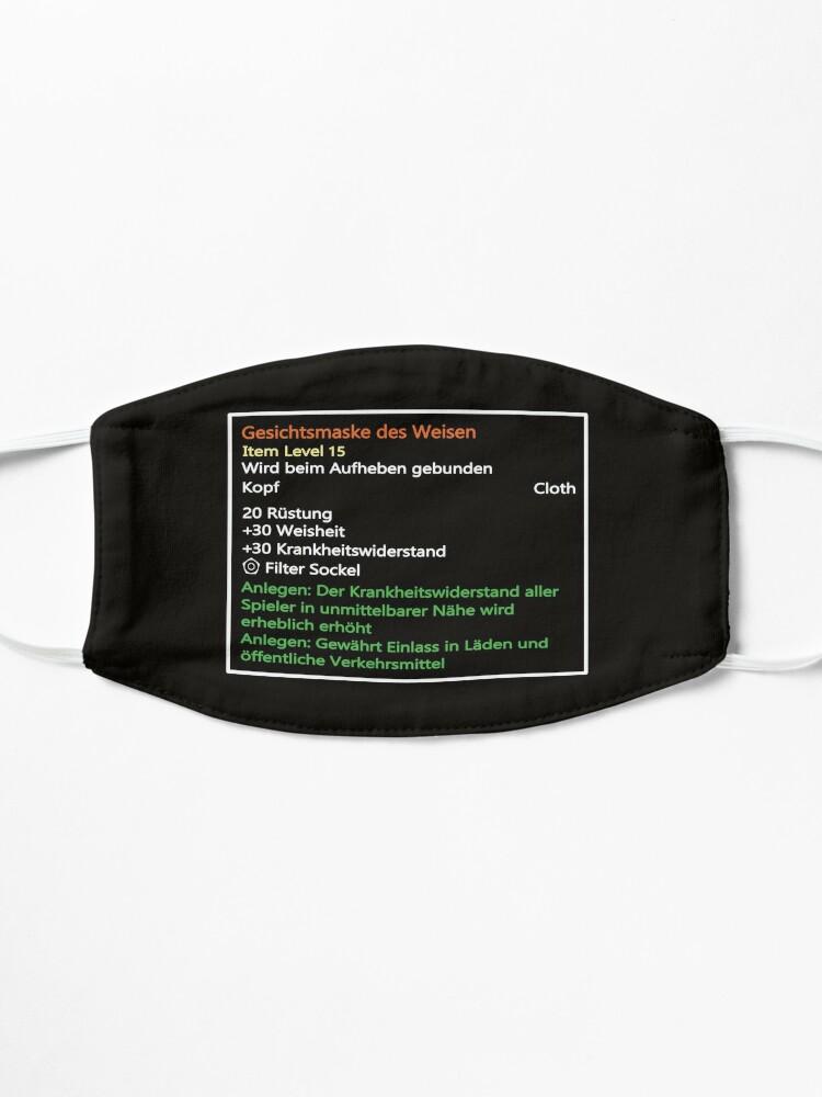 Alternative Ansicht von Kultige Tool-Tip Gamer Maske im MMORG Stil: Gesichtsmaske des Weisen Maske