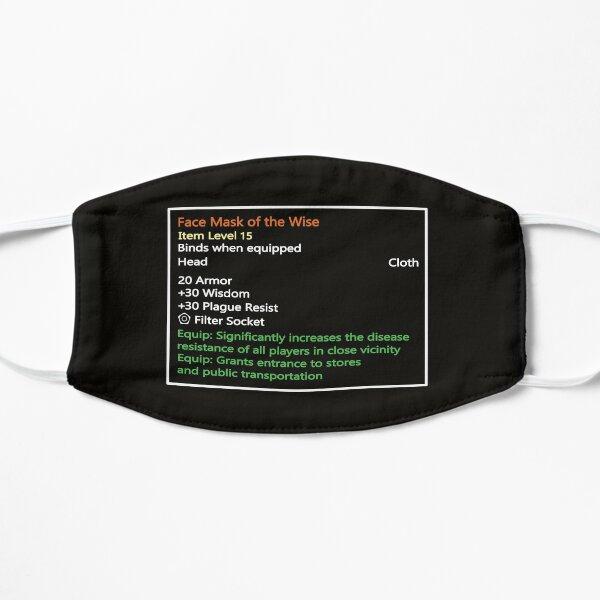 Kultige Tool-Tip Gamer Maske im MMORPG Stil: Face Mask of the Wise Flache Maske