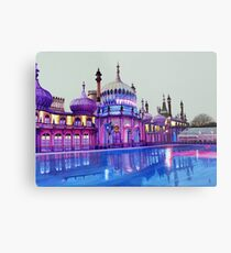 Pavilion Pink and Ice Rink Metal Print