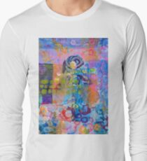 'Schism' - Abstract Floral Long Sleeve T-Shirt