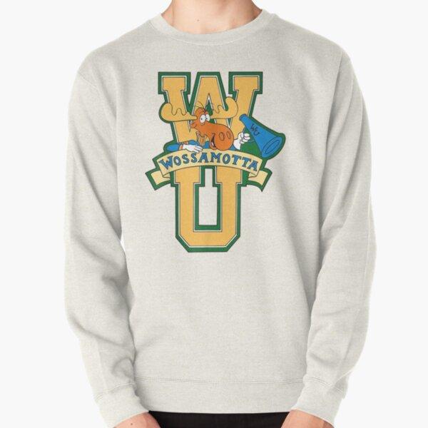 Rocky And Bullwinkle Wossamotta U Logo Graphic  Pullover Sweatshirt