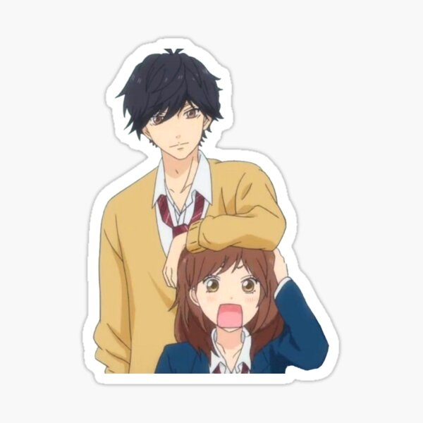 Blue spring ride : Cute Kou X Futaba !  Glossy Sticker