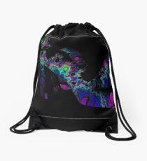 'Sensual Entropy' - Neon Body Painted Woman Drawstring Bag