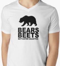 Bears Beets Battlestar Galactica Men's V-Neck T-Shirt