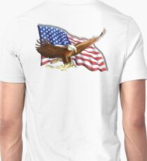 AMERICAN, PATRIOT, independence, Eagle, War, Flag, America, Bald Eagle, USA, Bird of Prey Unisex T-Shirt