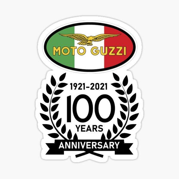 Bandera italiana de celebración del 100 aniversario de Moto Guzzi Pegatina