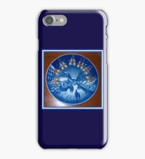 Royal Blue Copenhagen Plate Round Christmas Market Kirsten Christkindl Angel Delight iPhone Case/Skin