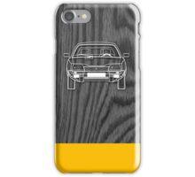 Citroen CX Outline Drawing on Black Oak iPhone Case/Skin
