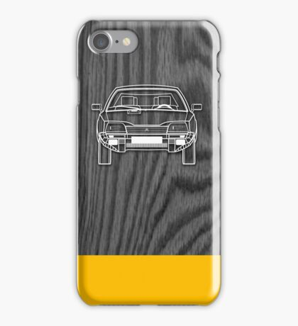 Citroen CX Outline Drawing on Black Oak iPhone Case/Skin
