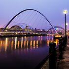 Newcastle Bridges by Reg-K-Atkinson