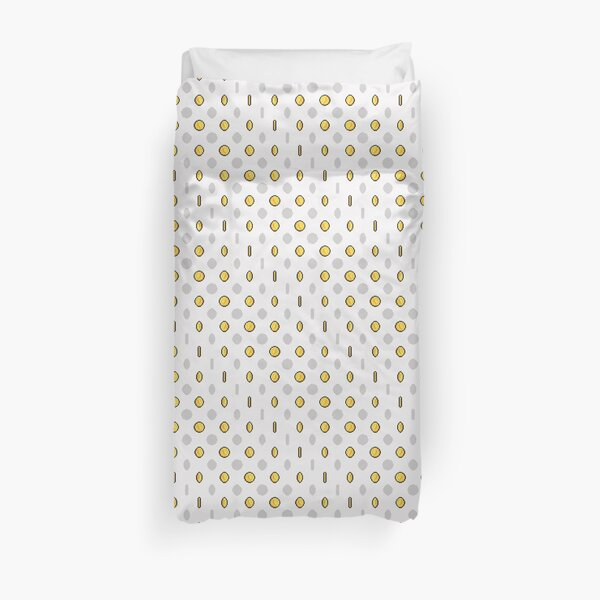 Gold eCoins | Warm White Duvet Cover