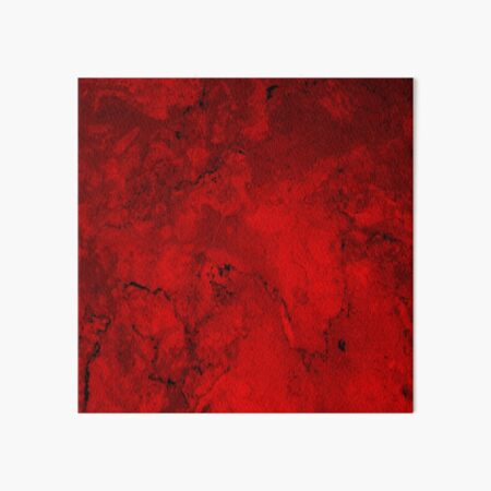 Red Marble Art Board Print
