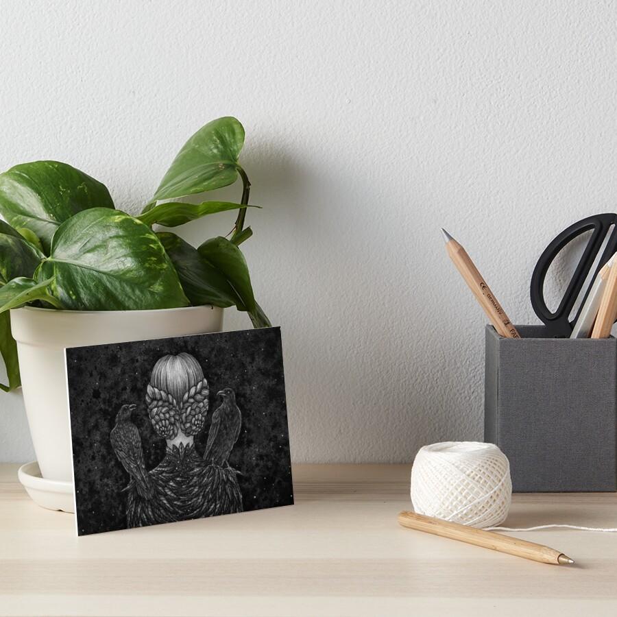 Crow Confidants Art Board Print
