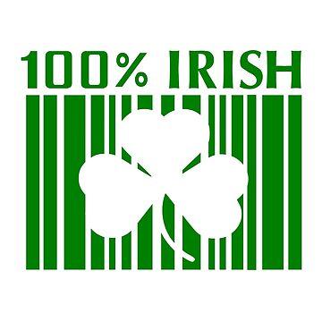 100% Irish St. Patricks Day von Designzz