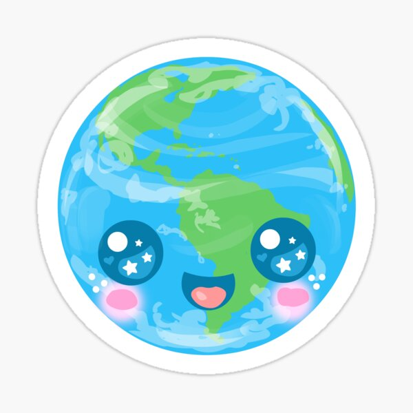 Kawaii Cute Earth Sticker