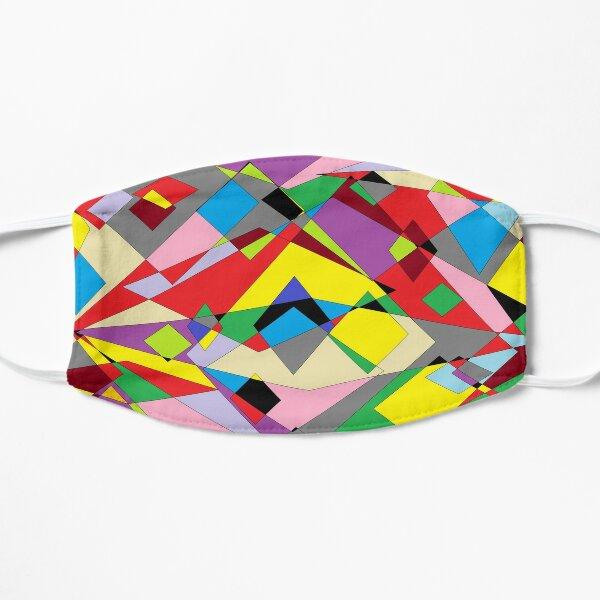 Colorful World of Sharp Corners Flat Mask