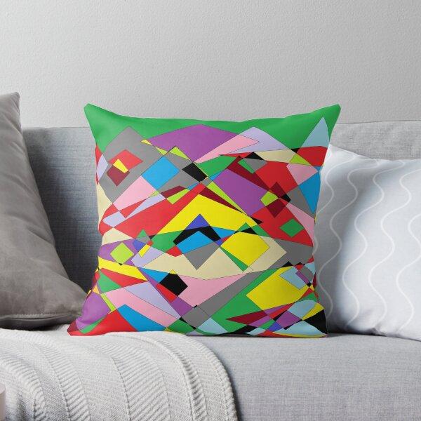Colorful World of Sharp Corners Throw Pillow