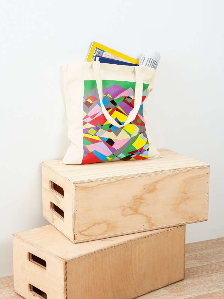 Alternate view of Colorful World of Sharp Corners Tote Bag