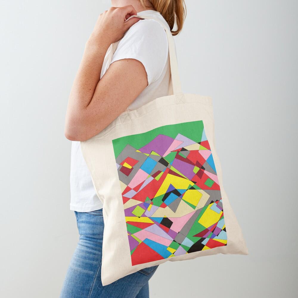 Colorful World of Sharp Corners Tote Bag