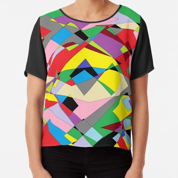 Colorful World of Sharp Corners Chiffon Top
