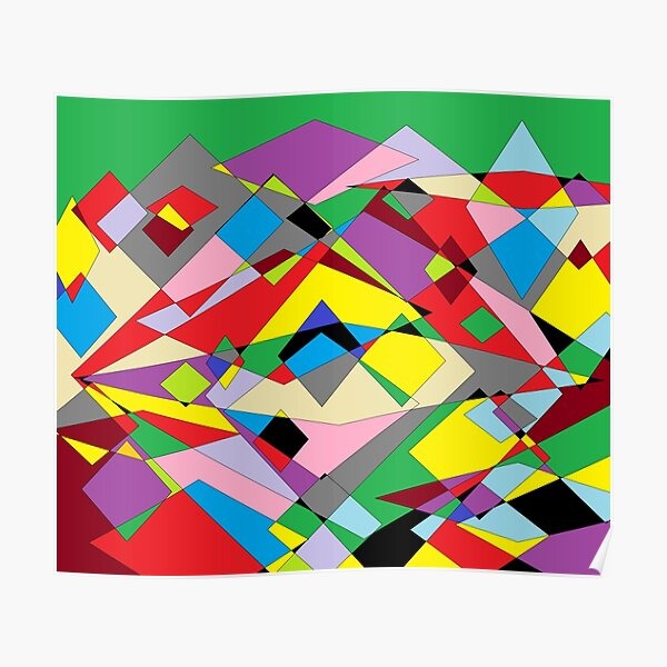 Colorful World of Sharp Corners Poster