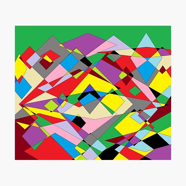 Colorful World of Sharp Corners Photographic Print