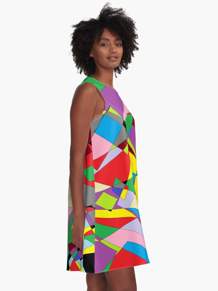 Alternate view of Colorful World of Sharp Corners A-Line Dress