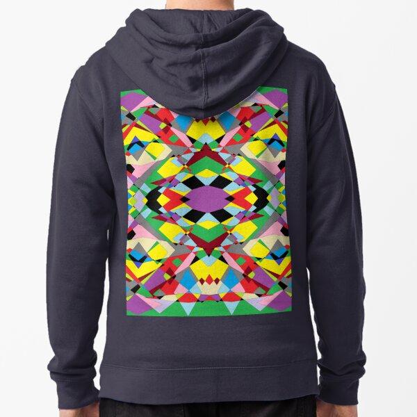 Colorful World of Sharp Corners Zipped Hoodie