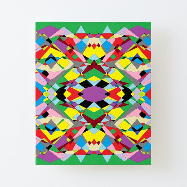 Colorful World of Sharp Corners Canvas Mounted Print