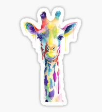 Rainbow Giraffe Sticker