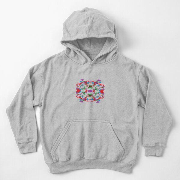 Colorful World of Sharp Corners Kids Pullover Hoodie