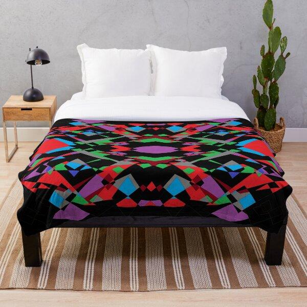 Colorful World of Sharp Corners Throw Blanket