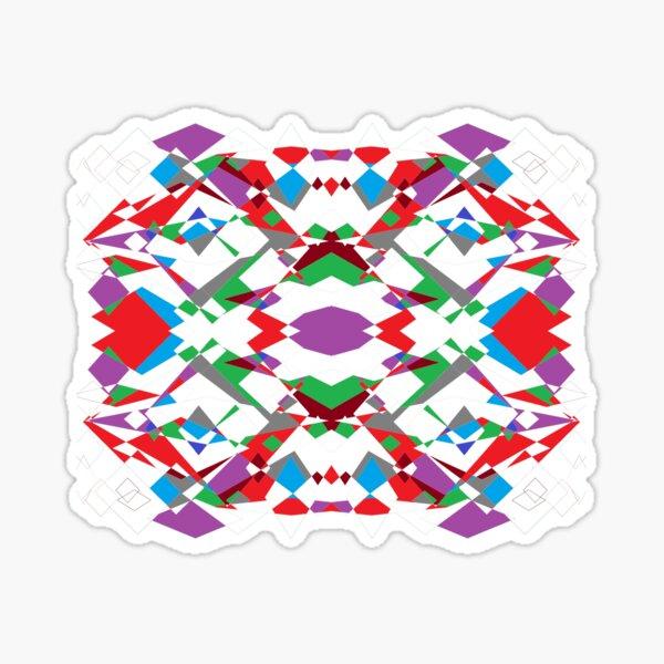 Colorful World of Sharp Corners Sticker