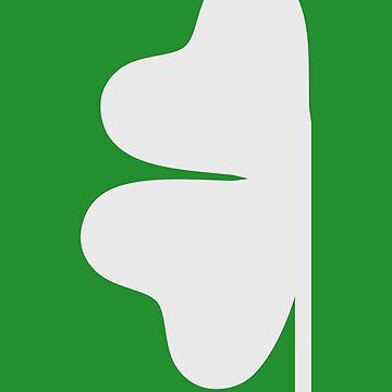 Halbes grünes Kleeblatt von Designzz
